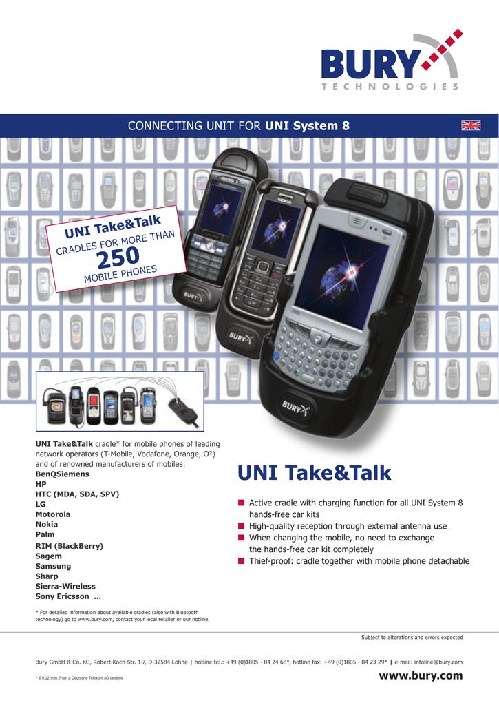 Bury UNI Take&Talk für BlackBerry 8100 | manualzz com
