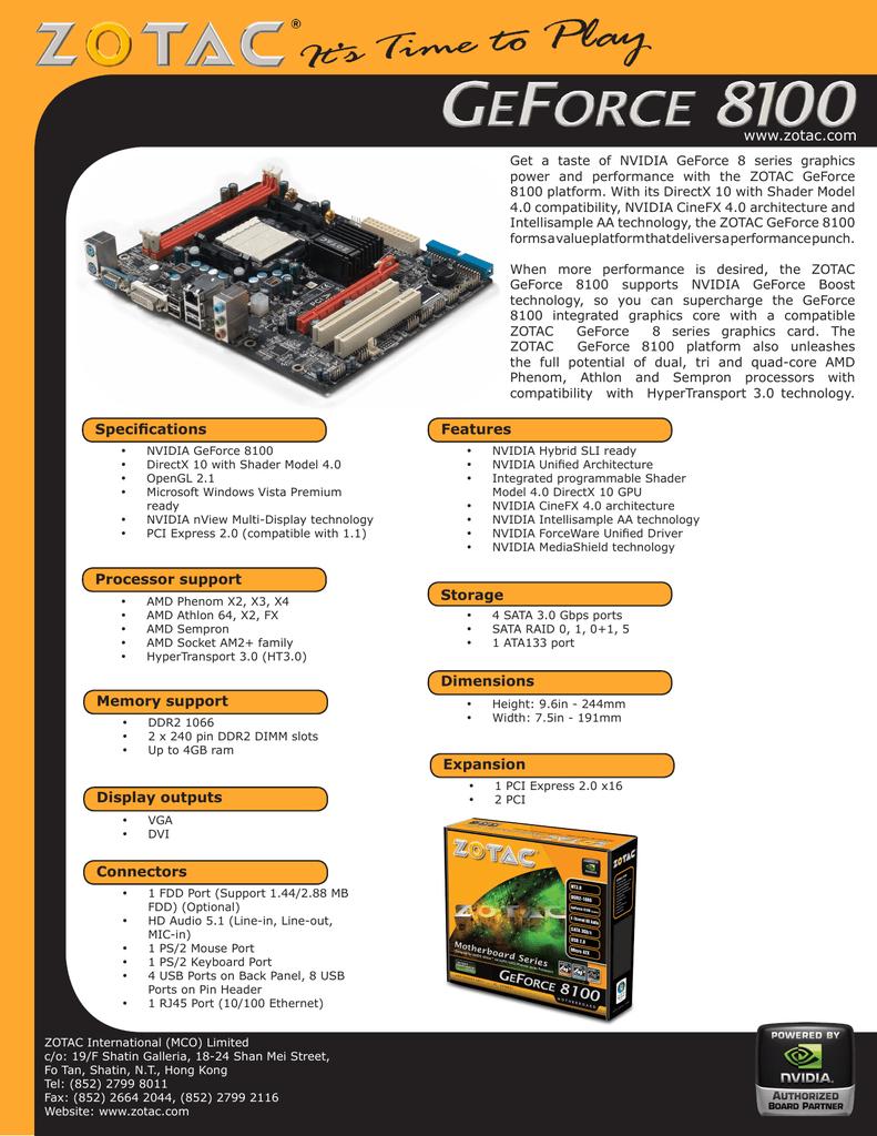 Zotac GF8100-A-E motherboard | manualzz com