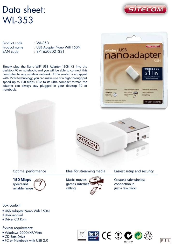 CONCEPTRONIC 150N NANO WIRELESS USB ADAPTER DRIVER FREE