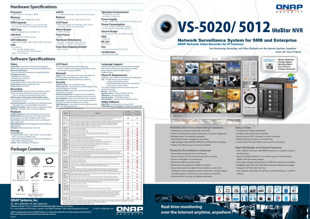 QNAP VS-5020 VioStor NVR | manualzz com