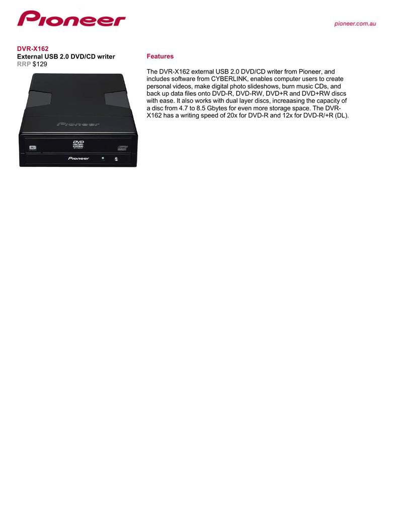 PIONEER DVR-2910 DVDCD WRITER WINDOWS 8.1 DRIVER