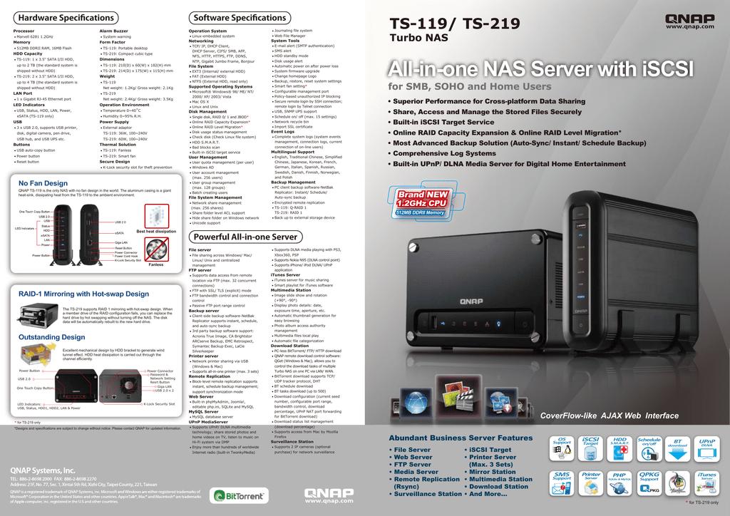 QNAP TS-119 | manualzz com