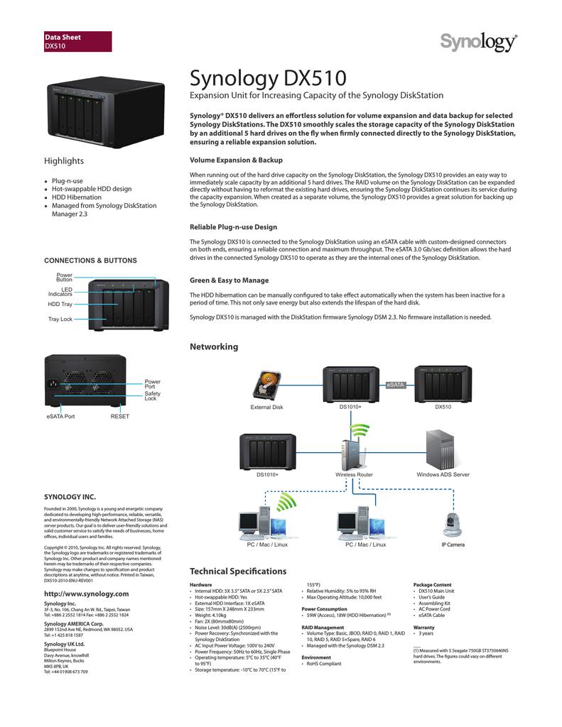 Synology DX510 | manualzz com