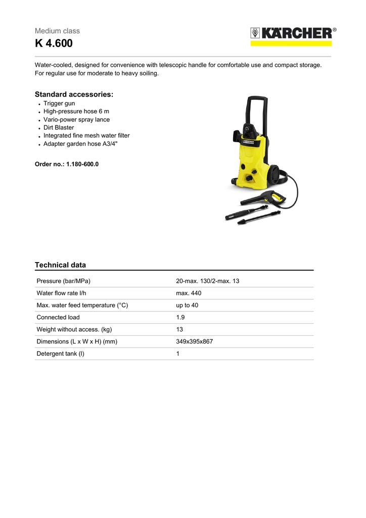 Kärcher K 4 600 | manualzz com