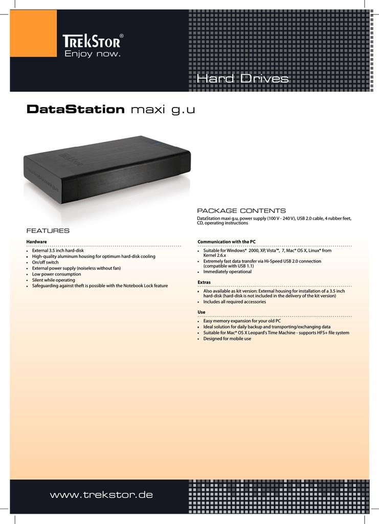 Trekstor 83774 external hard drive   manualzz com
