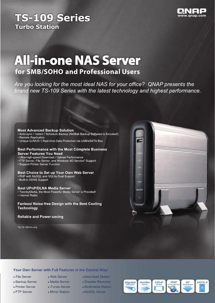 QNAP TS-109 storage server   manualzz com