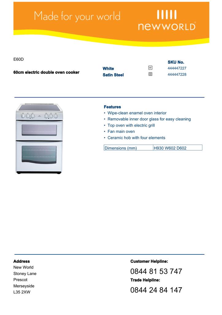 New World E60d Manualzz