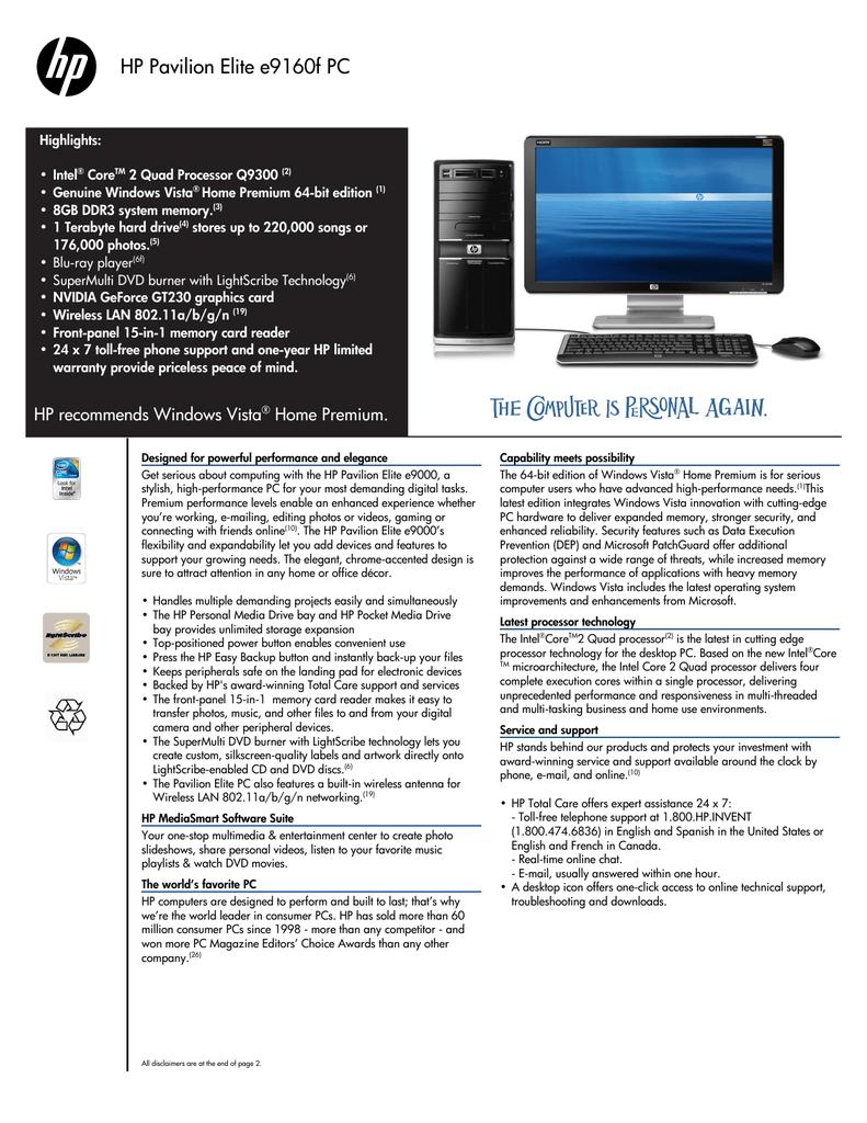 HP HDX X18-1010TX PREMIUM NOTEBOOK INTEL PROWLAN WINDOWS 10 DRIVERS