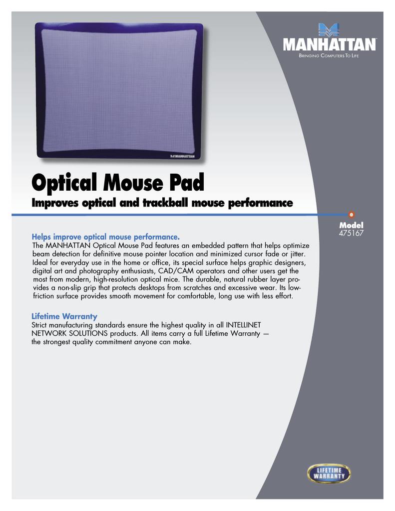 Manhattan Optical Mouse Pad | manualzz com