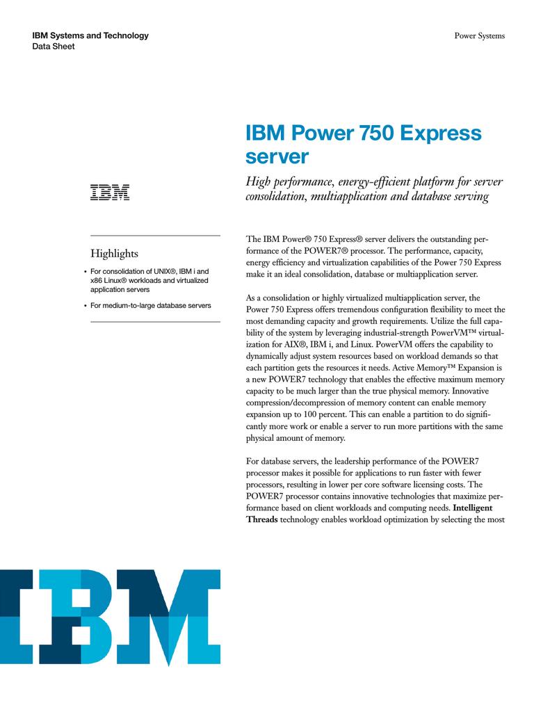 IBM ES750-P-M | manualzz com