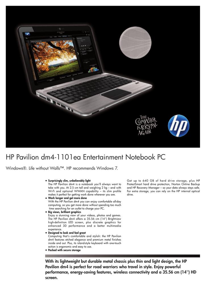HP Pavilion dm4-1101ea | manualzz com