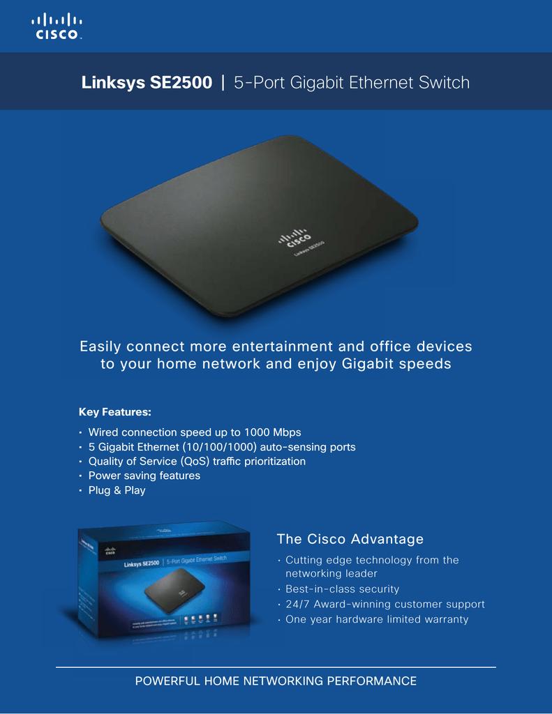 Linksys SE2500-EU network switch | manualzz com