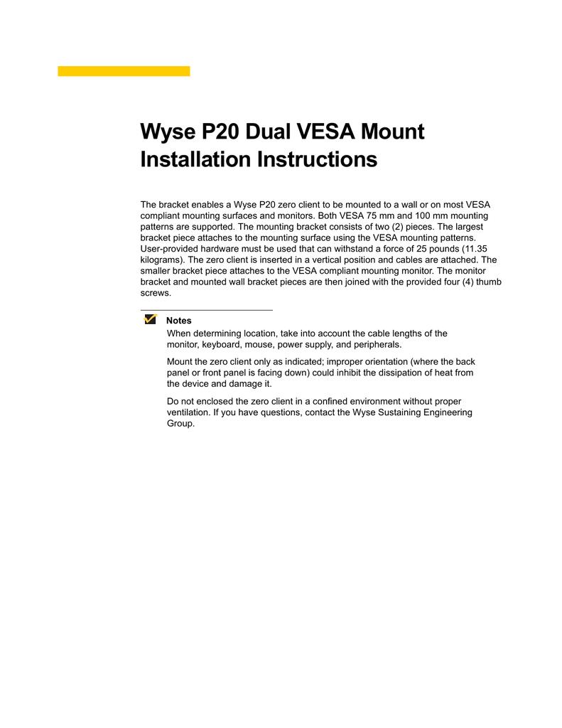 Dell Wyse 920324-01L mounting kit   manualzz com