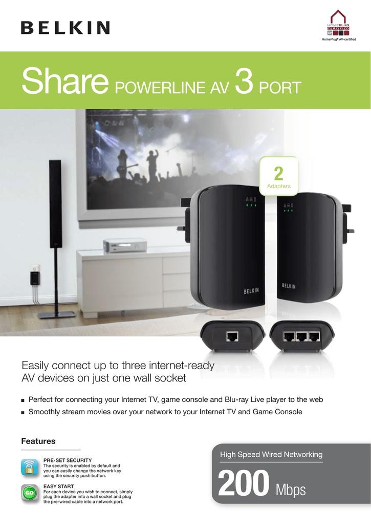Belkin Smart TV Powerline | manualzz com