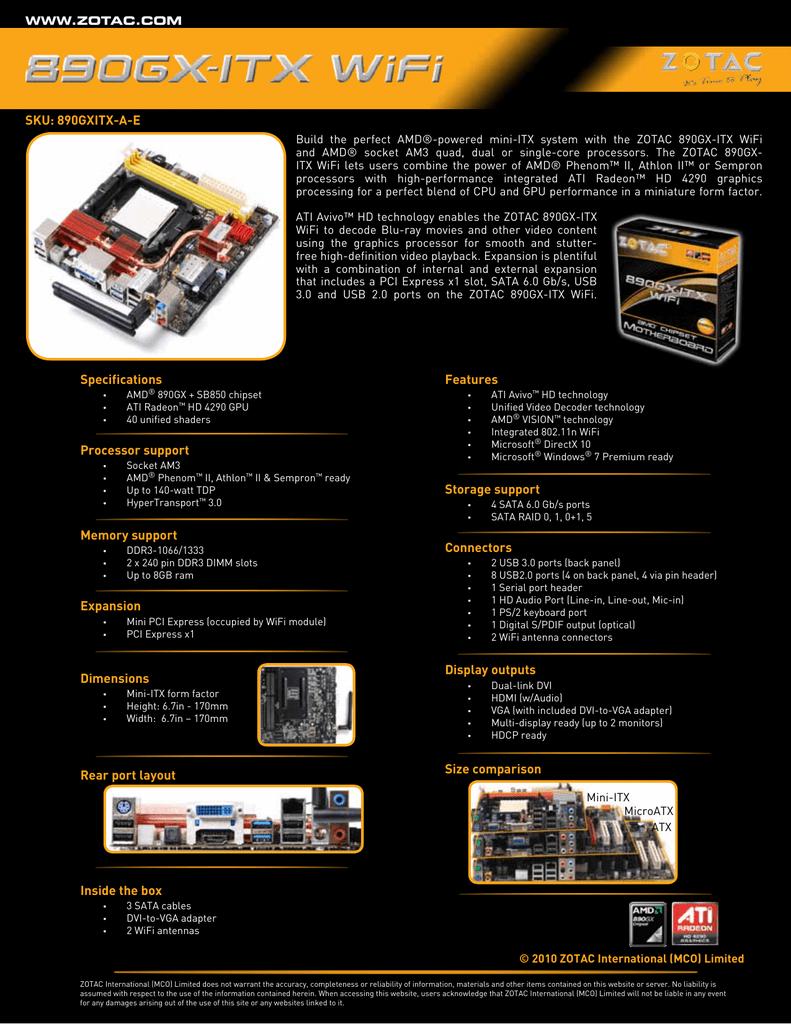 ZOTAC 890GXITX-B-E VIA USB 3.0 TREIBER