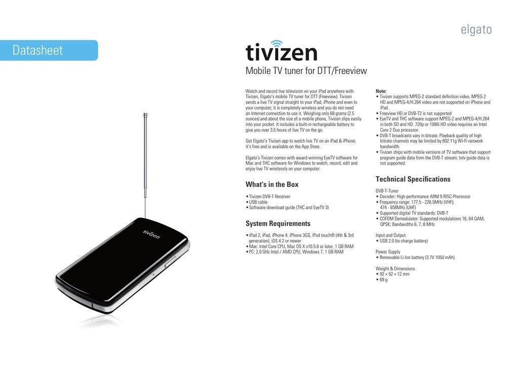 Elgato Tivizen | manualzz com