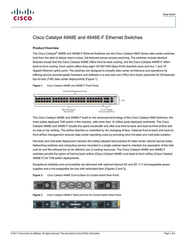 Cisco PWR-C49E-300AC-F AC Power Supply for WS-C4948E-F 1 Year Warranty