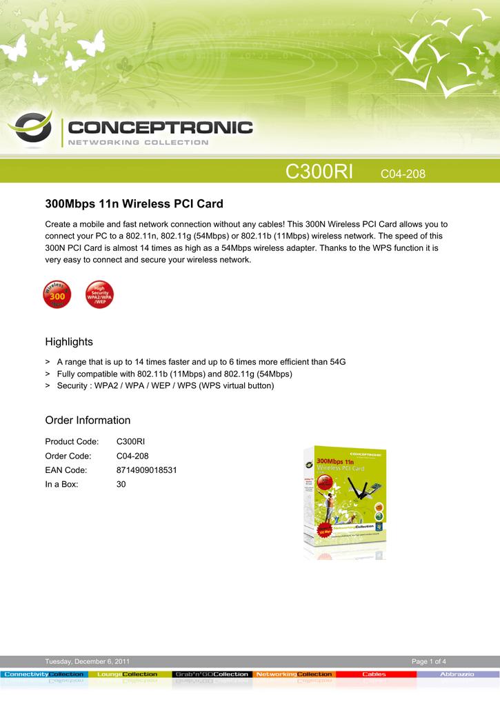 NEW DRIVER: CONCEPTRONIC C300RI