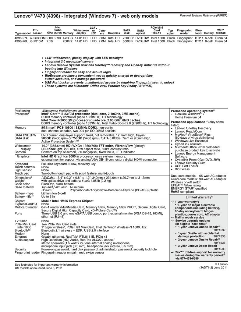 Lenovo IdeaPad V470 | manualzz com