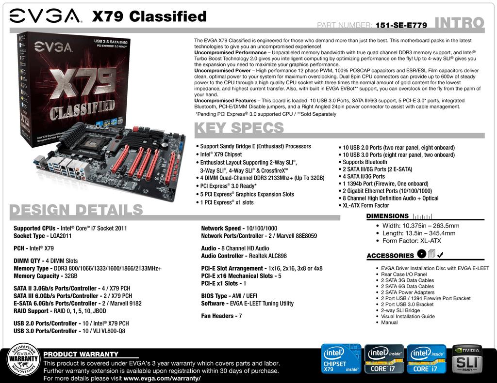 EVGA X79 Classified | manualzz com