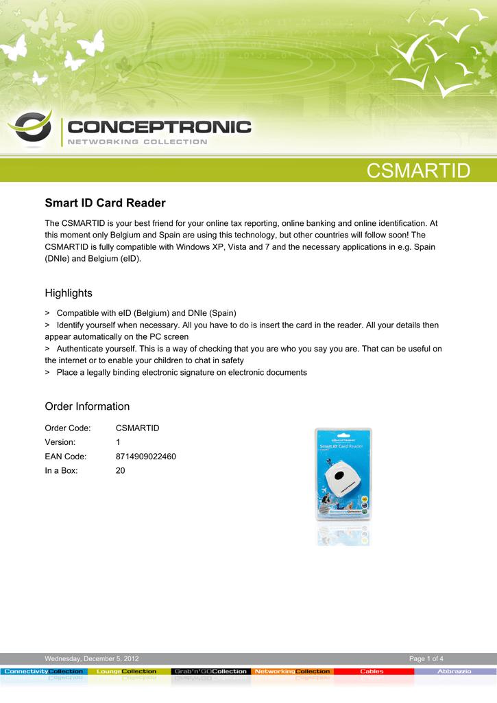 conceptronic smart id  manualzz