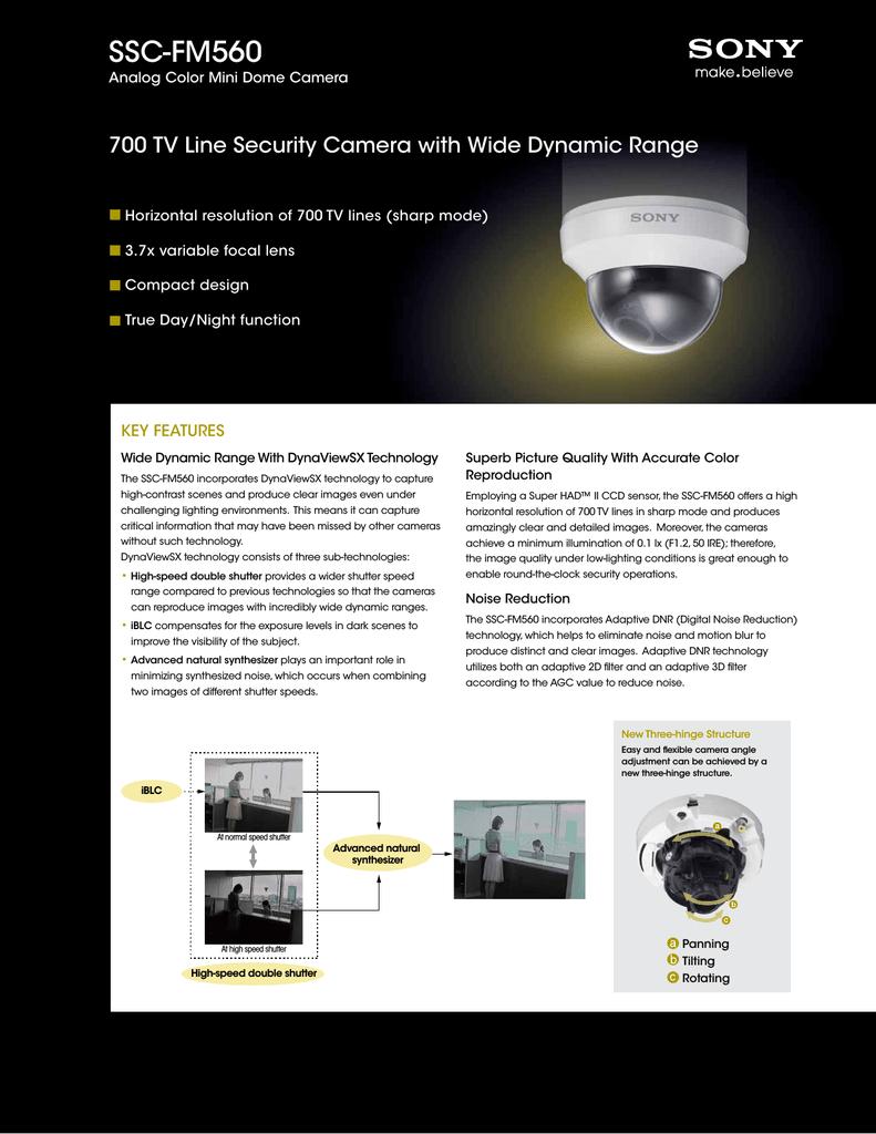 Monochrome SSCFM560 VS472790 Sony SSC-FM560 Surveillance Camera Color