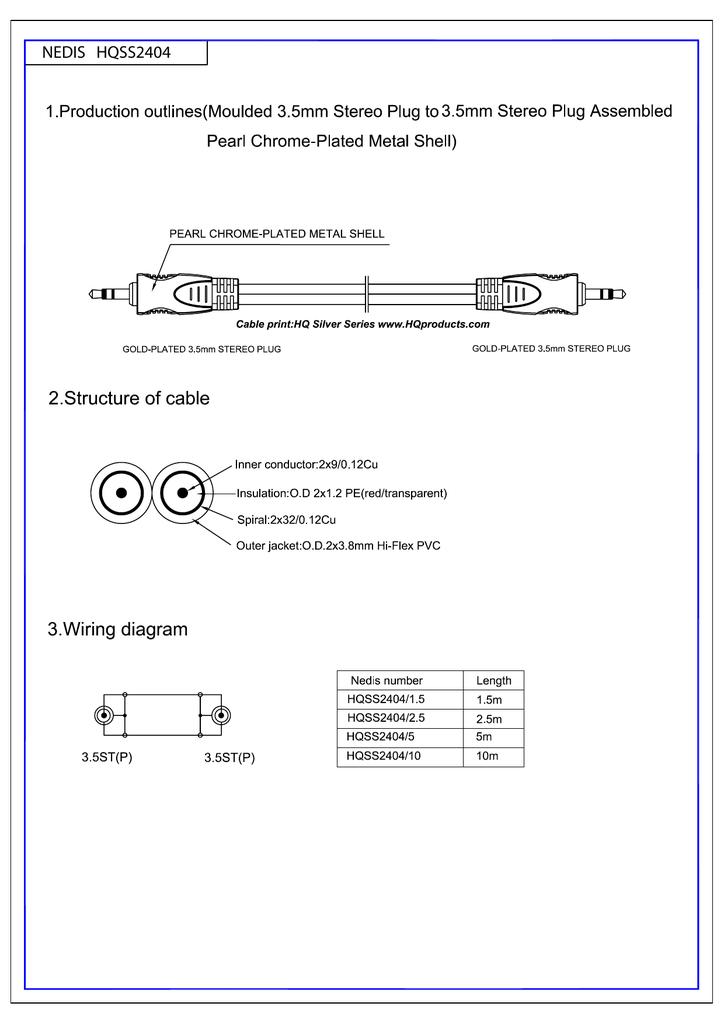 HQ SS2404/1.5   manualzz.com on volume control wiring diagram, 3.5mm to xlr microphone wiring diagram, xlr male wiring diagram, rca jack wiring diagram, 3.5mm audio jack wiring diagram,