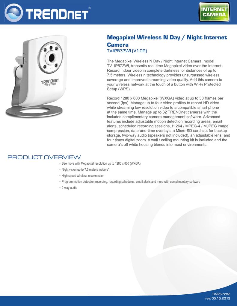 TRENDNET TV-IP572W V1.0R IP CAMERA DRIVERS UPDATE
