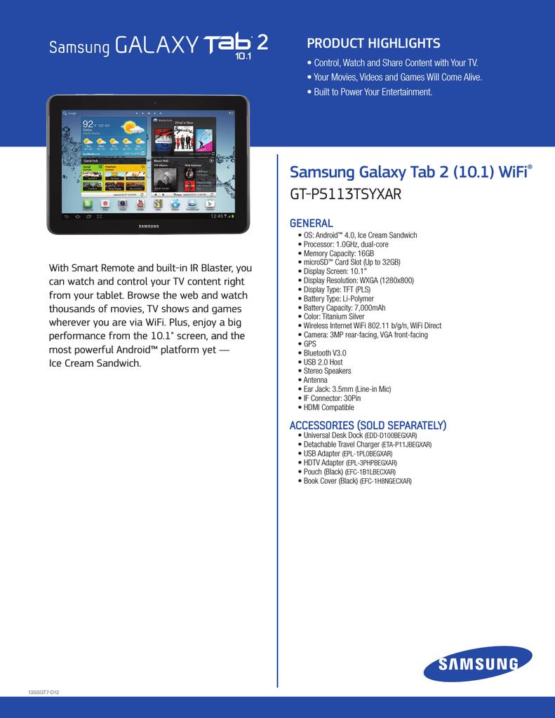 Samsung Galaxy Tab 2 10 1 16GB Grey   manualzz com