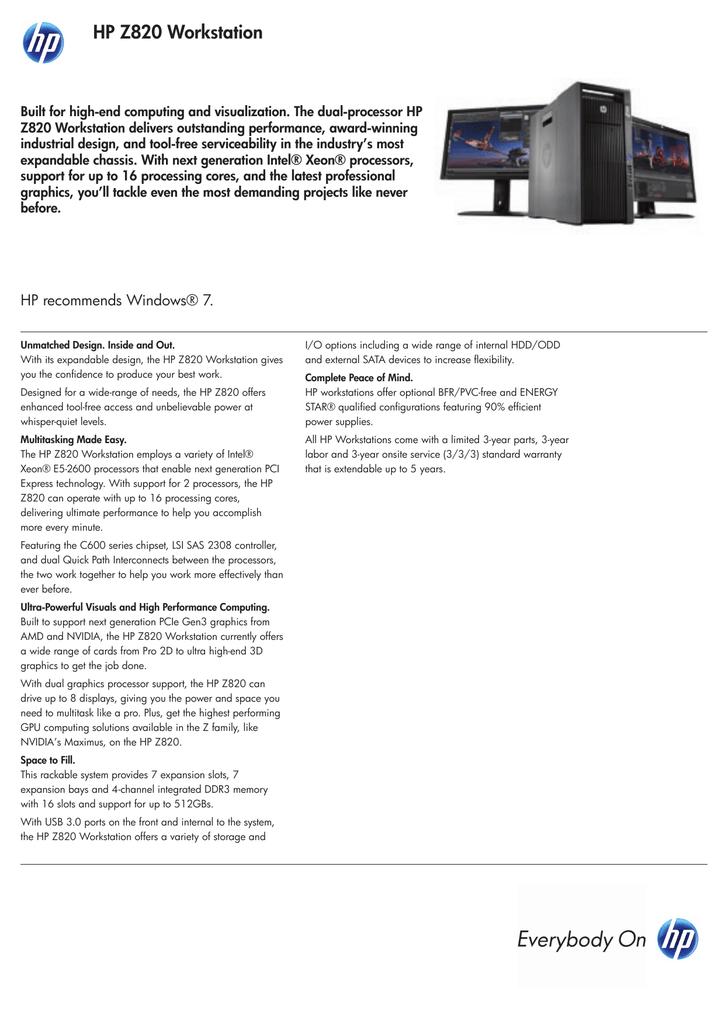 HP Z 820 | manualzz com
