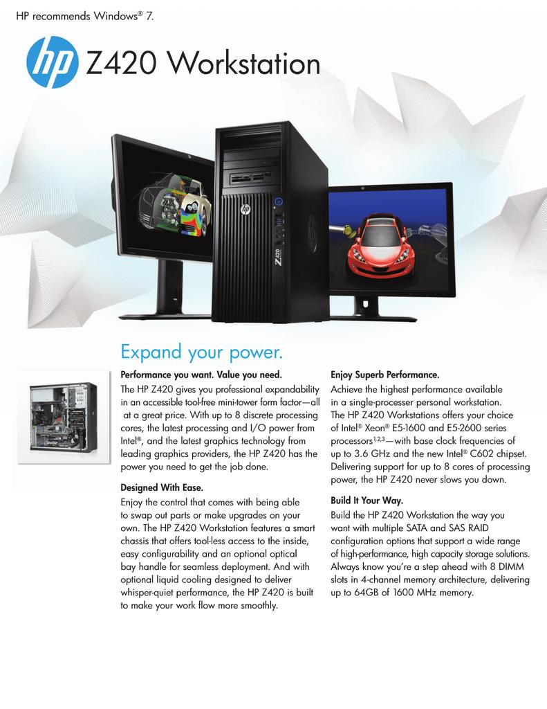 HP Z 420 | manualzz com