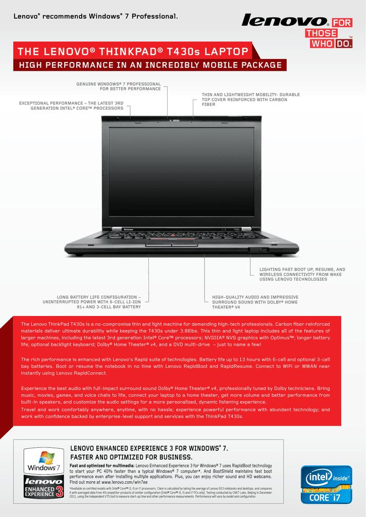Lenovo ThinkPad T430s | manualzz com