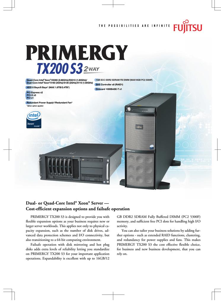 Fujitsu PRIMERGY TX200 S3   manualzz com
