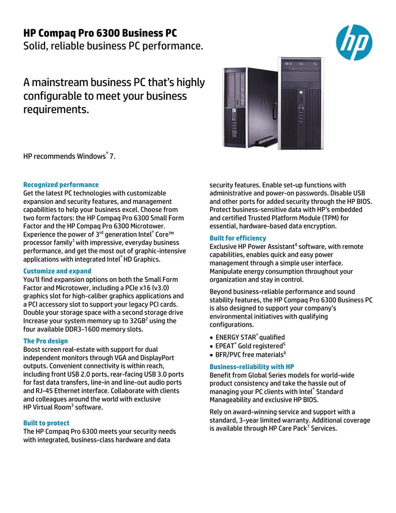 HP Compaq Pro 6300   manualzz com