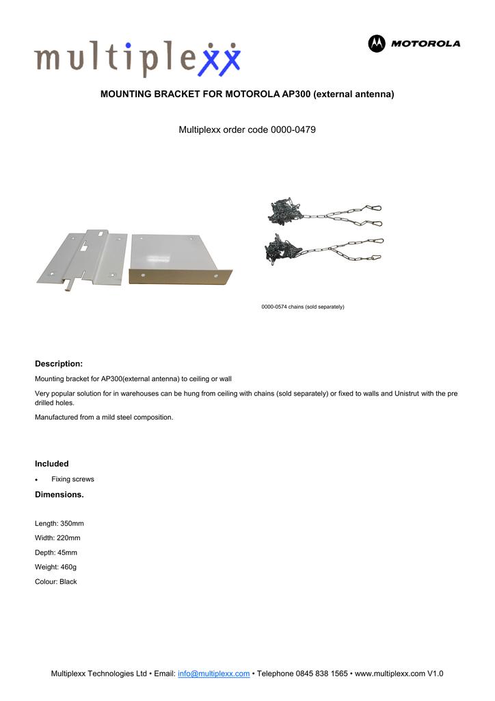 Multiplexx 0000-0479 mounting kit | manualzz com