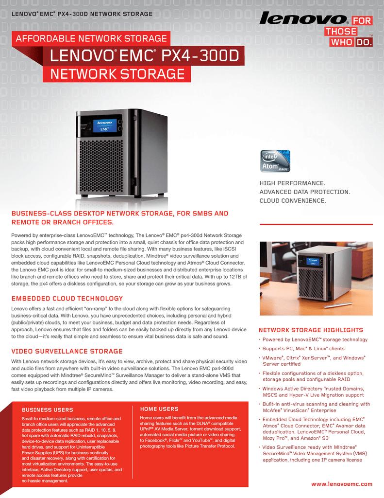 Lenovo TotalStorage Series EMC px4-300d 12TB | manualzz com