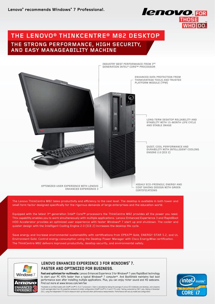 Lenovo ThinkCentre M82 | manualzz com