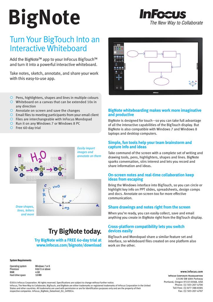 Infocus Bignote Whiteboard Software | manualzz com