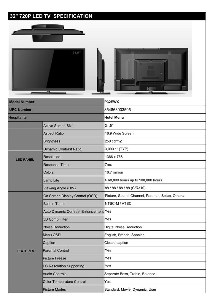 Upstar P32EWX LED TV | manualzz com