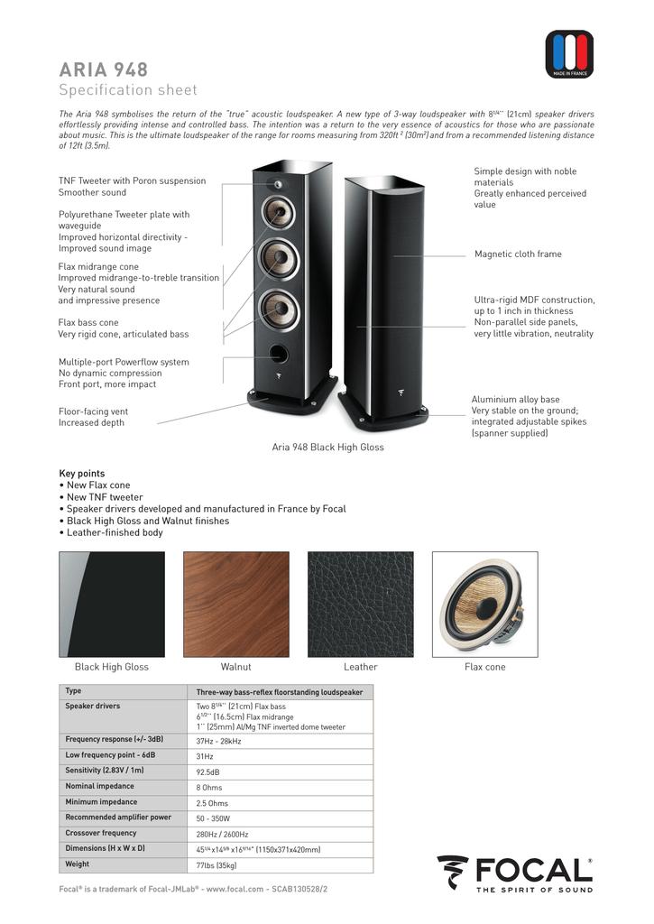 Focal Aria 948 | manualzz com