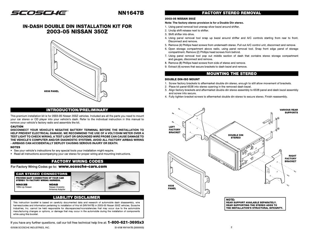 Scosche Wiring Harness Installation
