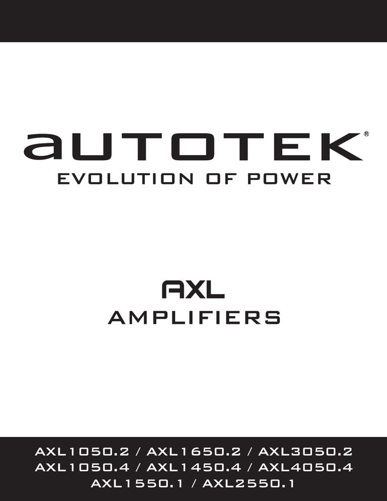 autotek axl1050 2 audio amplifier