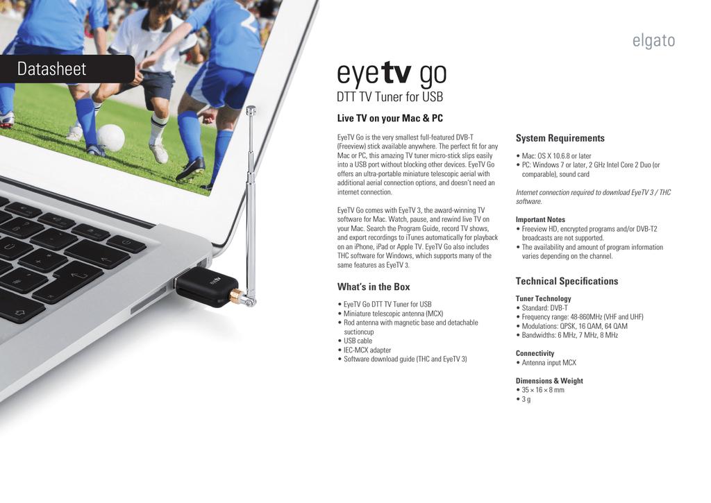 Elgato EyeTV Go | manualzz com