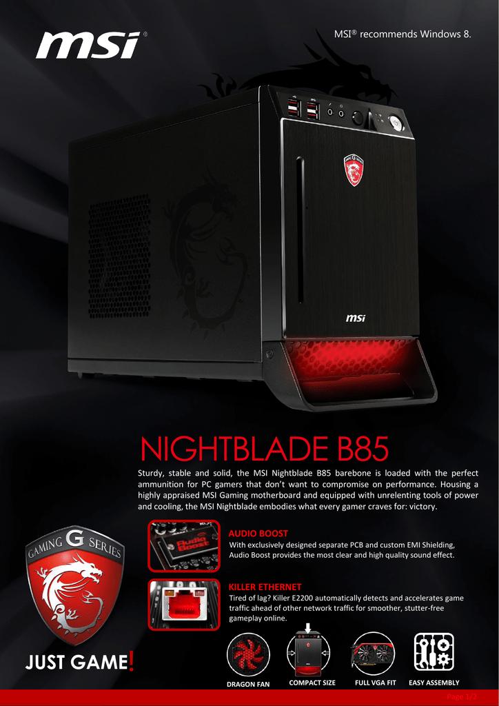 MSI Nightblade B85-001BEU   manualzz com