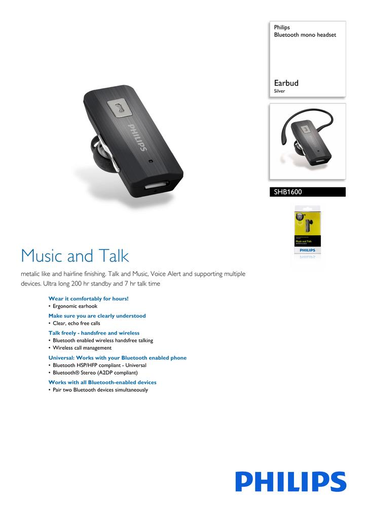 Philips SHB1600 | manualzz com
