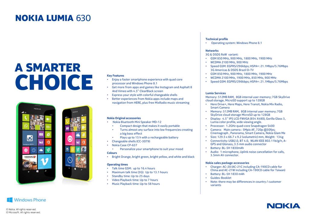 TIM Nokia Lumia 630 8GB Green   manualzz com