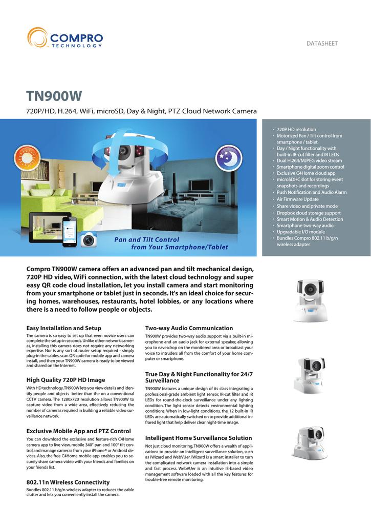 Compro TN900W surveillance camera | manualzz com