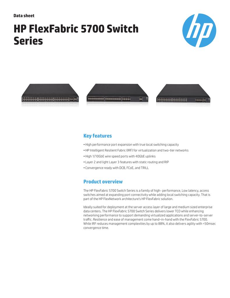 Hewlett Packard Enterprise FlexFabric 5700-40XG-2QSFP+