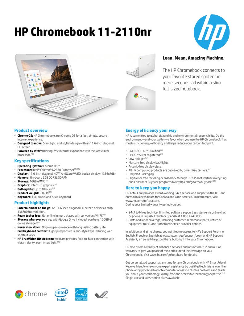 HP Chromebook 11-2110nr | manualzz com