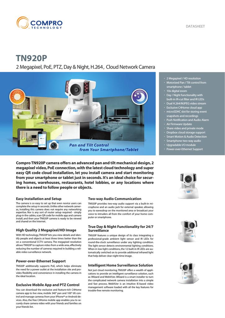 Compro TN920P surveillance camera | manualzz com